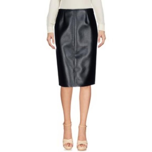 11644d460d Prada Skirts | Dark Olive Leather Pencil Skirt Size 44 | Poshmark